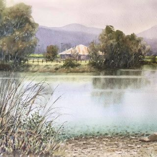 James McKay Rouse River Tweed Valley watercolour