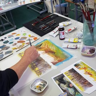 gold coast art school intermediate painting