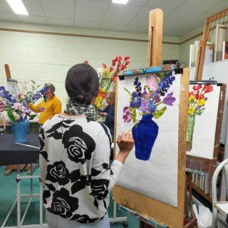 gold coast art school intermediate painting still life