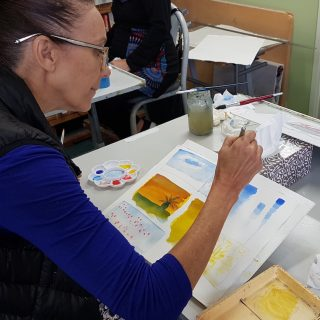 James McKay Introduction To Watercolour at Gold Coast Art School student working