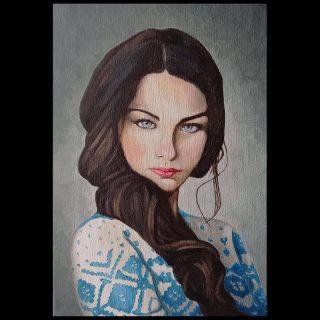 Female Portrait study Jason Clarke Gold Coast Art School